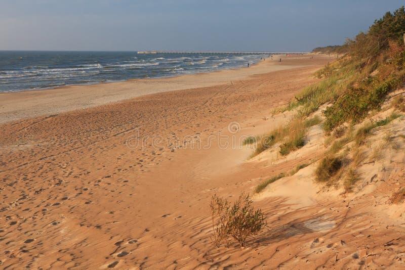 прибалтийское море пляжа стоковая фотография rf