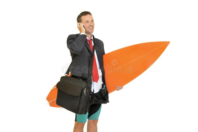 прибой бизнесмена стоковое изображение rf
