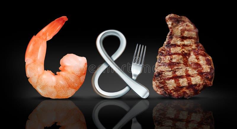 Прибой и еда дерновины иллюстрация штока
