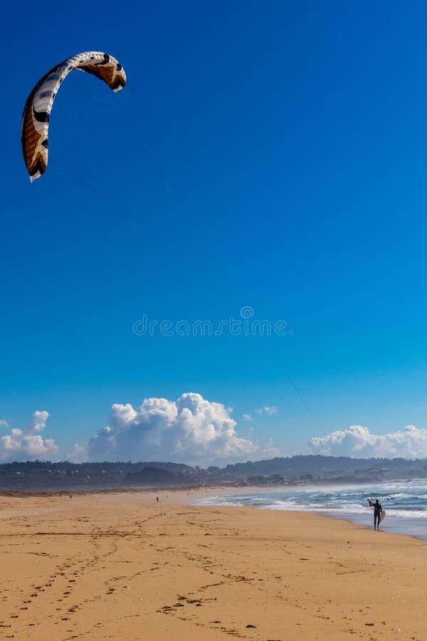 Прибой конька в пляже стоковые фото