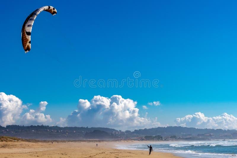Прибой конька в пляже стоковые фотографии rf