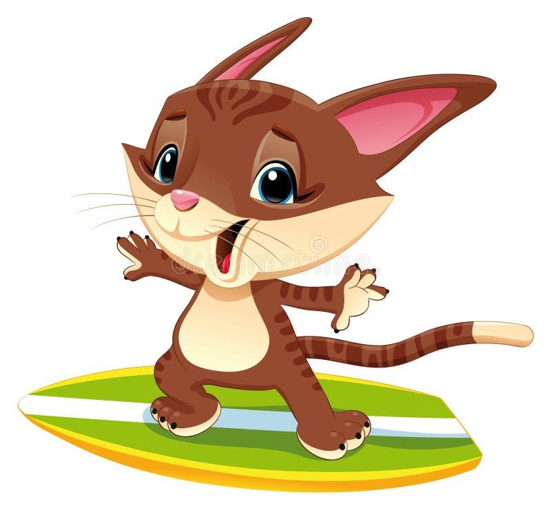 прибой кота Стоковое Фото