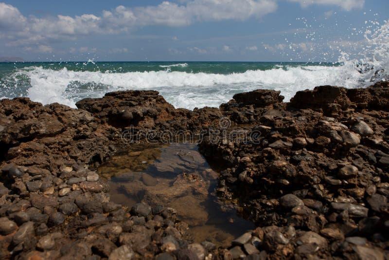 Прибой, Крит Analipsi стоковые изображения rf