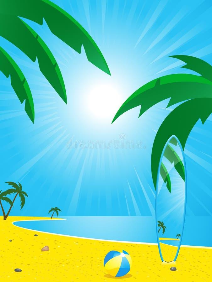прибой лета доски пляжа бесплатная иллюстрация