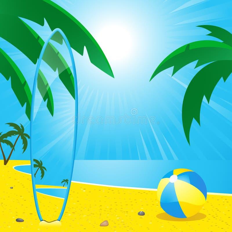 прибой лета пляжа board2 бесплатная иллюстрация