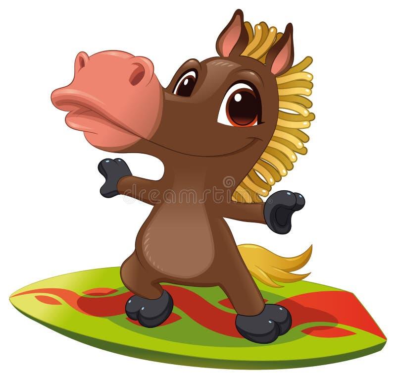 прибой лошади бесплатная иллюстрация