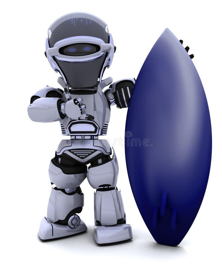 прибой робота доски иллюстрация вектора