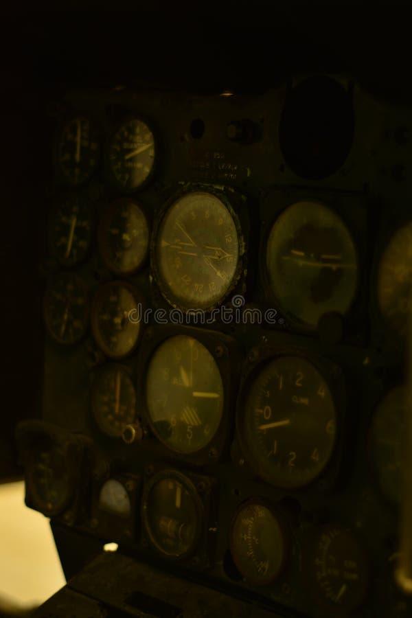 Приборная доска авиационного прибора стоковая фотография rf