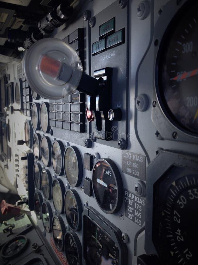 Приборная доска авиационного прибора стоковые изображения rf