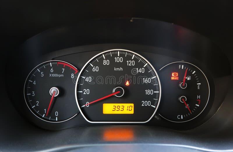 Приборная панель автомобиля стоковое изображение rf