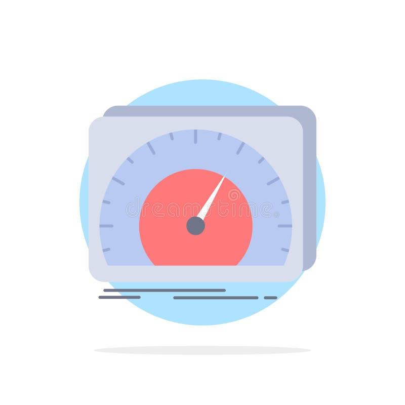 приборная панель, прибор, скорость, тест, вектор значка цвета интернета плоский бесплатная иллюстрация