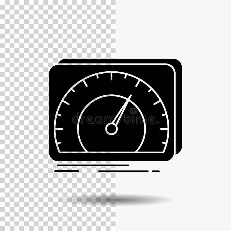 приборная панель, прибор, скорость, тест, значок глифа интернета на прозрачной предпосылке r бесплатная иллюстрация