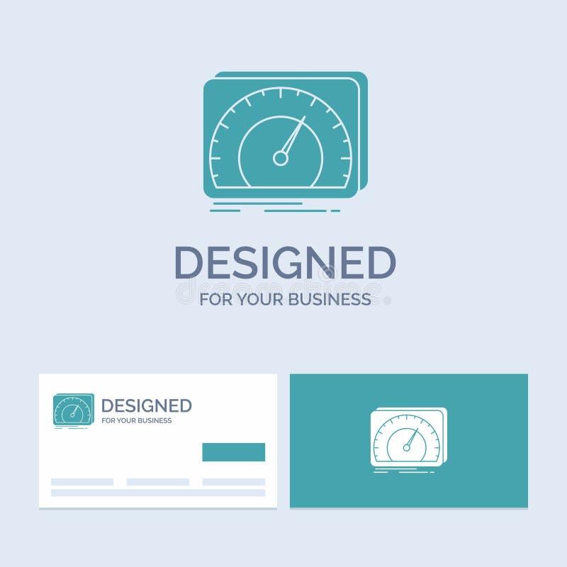 приборная панель, прибор, скорость, тест, символ значка глифа логотипа дела интернета для вашего дела r иллюстрация вектора