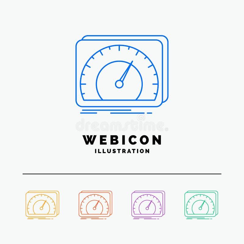 приборная панель, прибор, скорость, тест, шаблон значка сети цветного барьера интернета 5 изолированный на белизне r бесплатная иллюстрация
