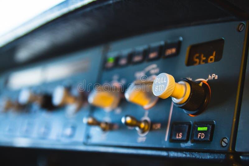 Приборная панель приборного щитка автопилота аэробуса стоковая фотография