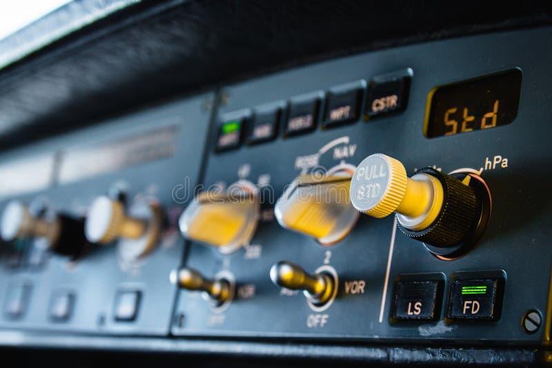 Приборная панель приборного щитка автопилота аэробуса стоковые изображения rf