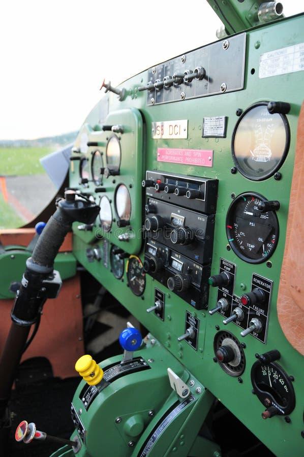 Приборный щиток в небольших воздушных судн спорта стоковая фотография