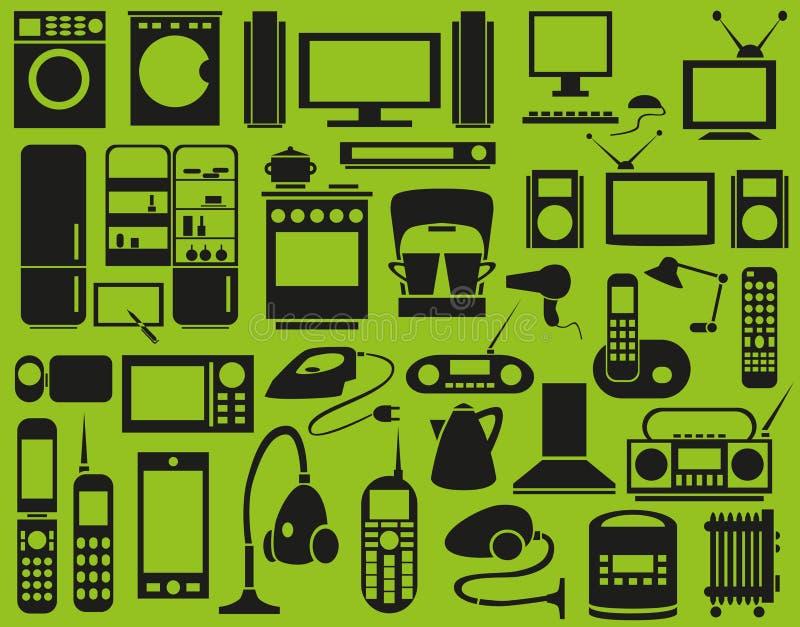 Download Приборы значков иллюстрация вектора. иллюстрации насчитывающей кухня - 37927877