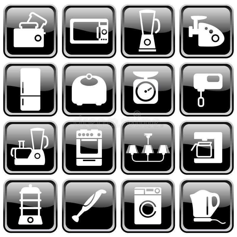 приборы самонаводят кухня иллюстрация штока