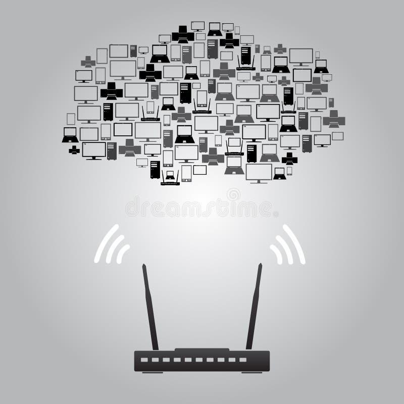 Приборы eps10 беспроводной связи бесплатная иллюстрация