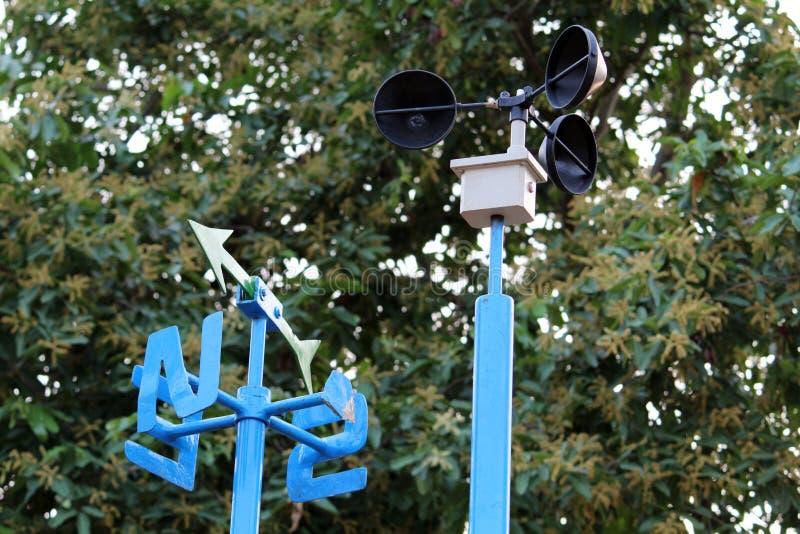 Прибор ветромера в парке стоковая фотография rf