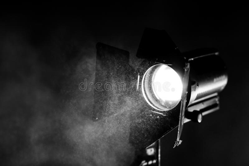 Прибор освещения на месте киносъемка стоковые изображения rf