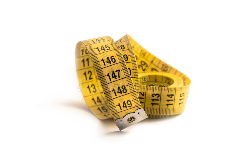 прибор предназначил ленту измерения измерения длины стоковое фото