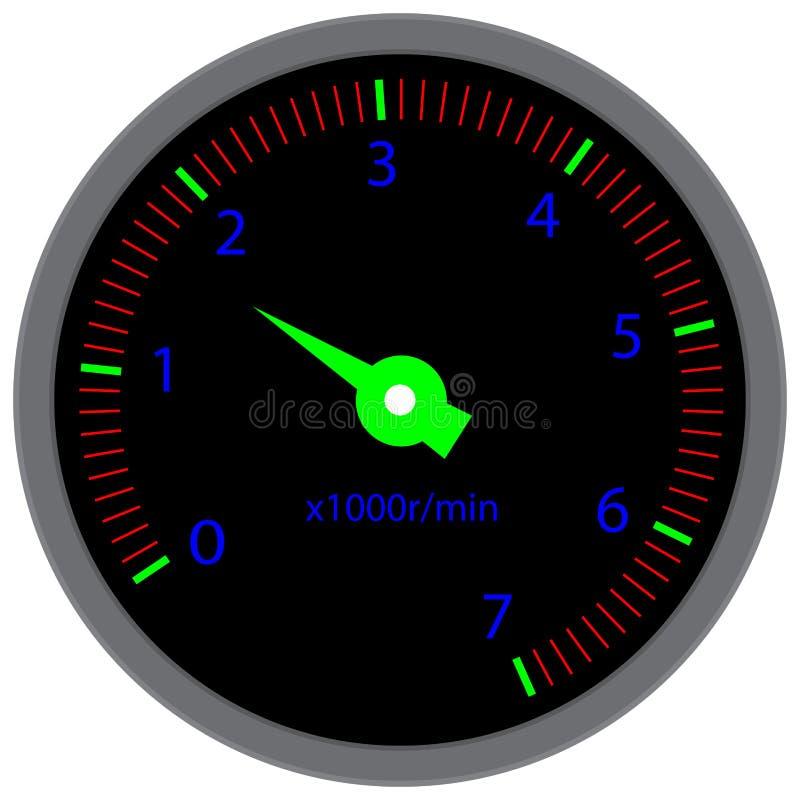 Прибор приборной панели тахометра иллюстрация вектора
