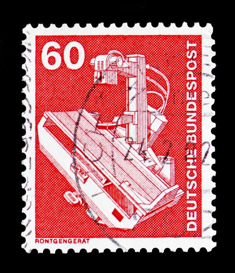 Прибор рентгеновского снимка, индустрия и serie 1975-1982 Definitives технологии, около 1978 стоковые изображения