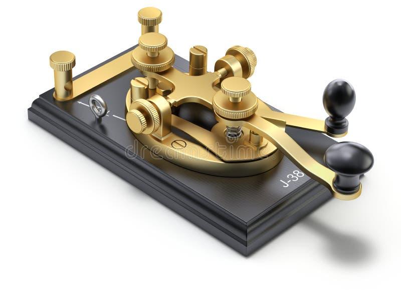 Прибор телеграфирования азбуки Морзе иллюстрация вектора