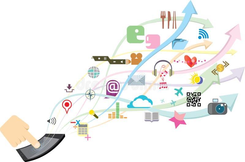 Прибор телефона Multi фантазии функции умный бесплатная иллюстрация