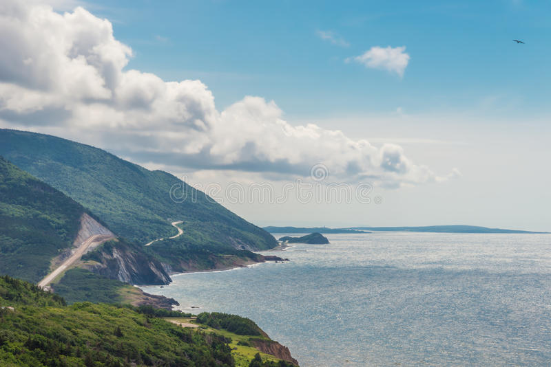 Прибрежная сцена на следе Cabot стоковые изображения