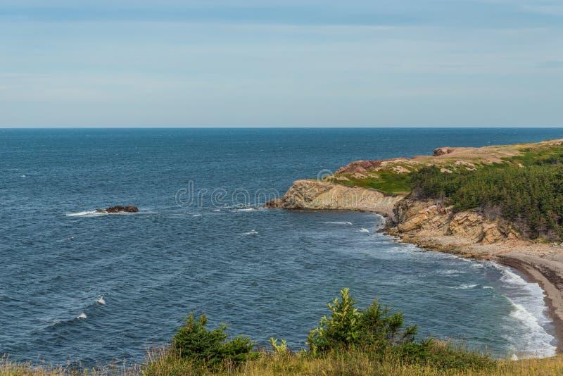 Прибрежная сцена на следе Cabot стоковые изображения rf