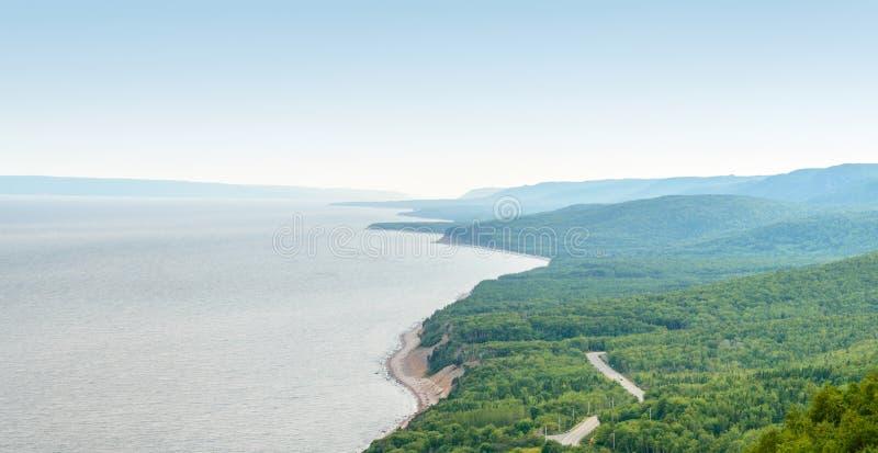 Прибрежная сцена на следе Cabot стоковое фото