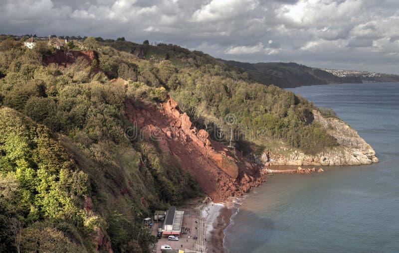 Прибрежная эрозия стоковые изображения rf