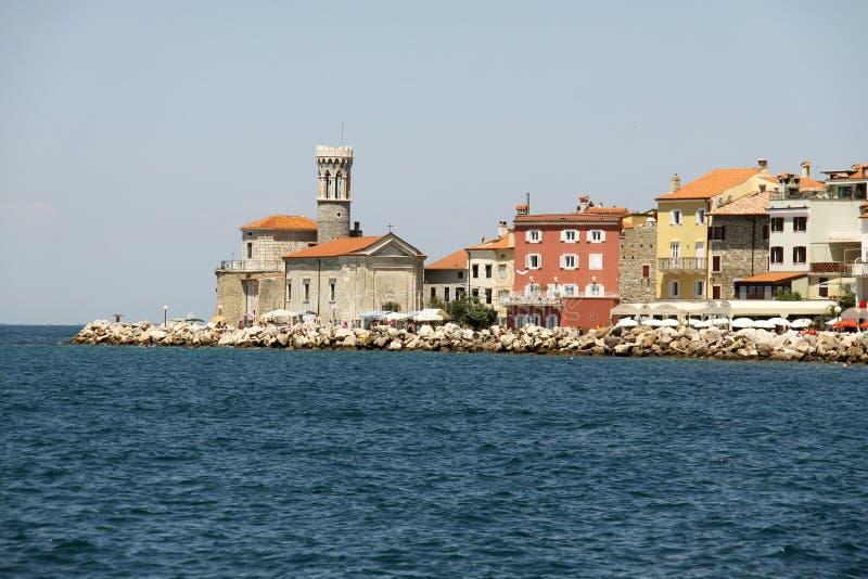 Прибрежный город Prian в Словении стоковые изображения rf