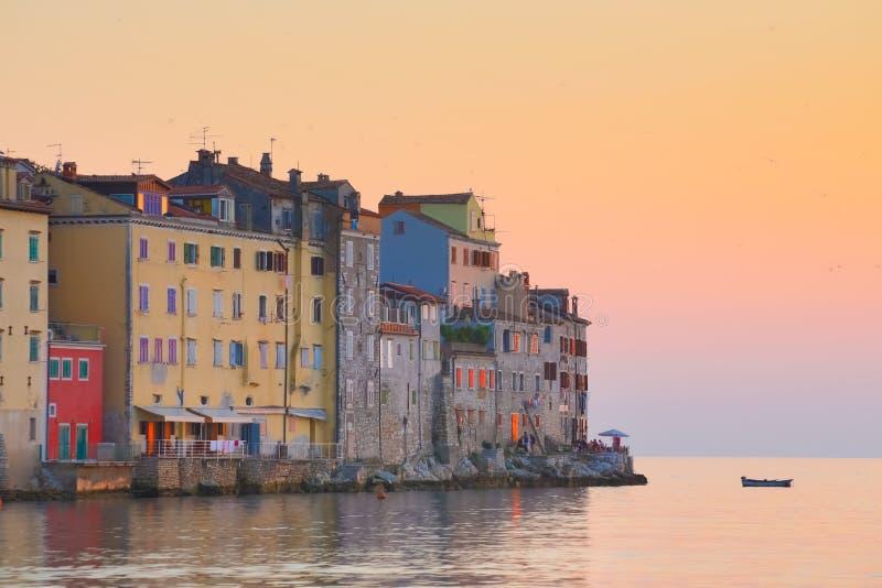 Прибрежный город Rovinj, Istria, Хорватия. стоковые фото