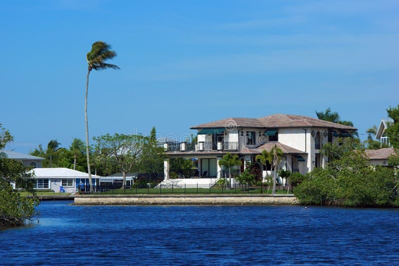 прибрежный дом florida стоковое изображение rf