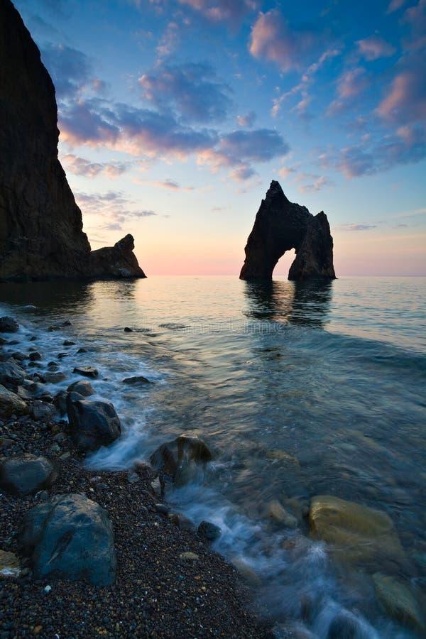прибрежный ландшафт стоковые изображения