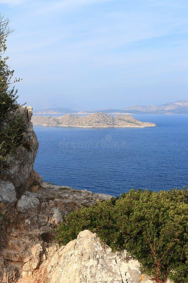 Прибрежный seascape с островами стоковые фотографии rf