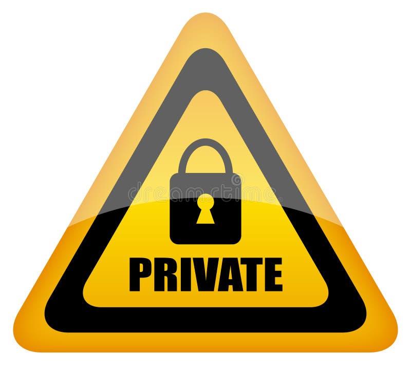 приватный знак иллюстрация штока