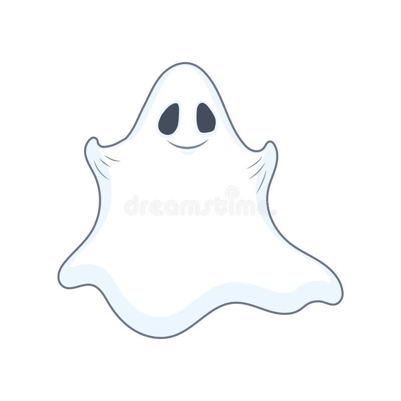 Приветливый привидение Хэллоуина иллюстрация вектора