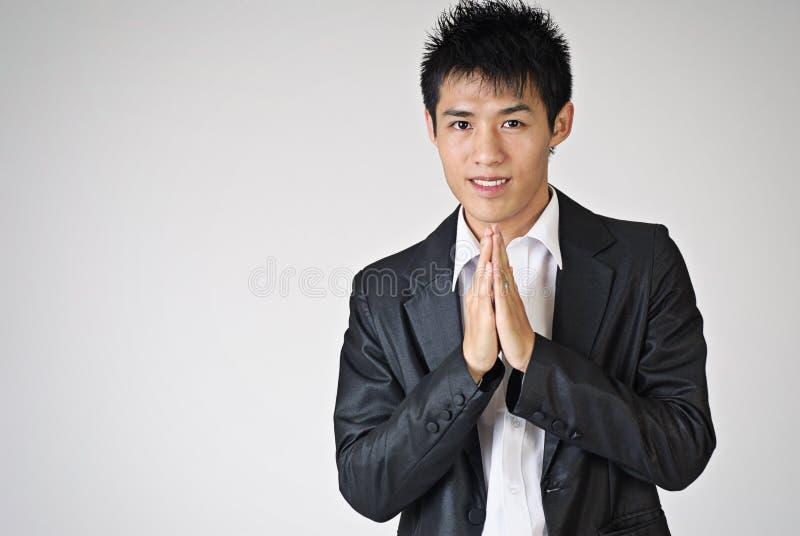 приветствие жеста тайское стоковое фото rf