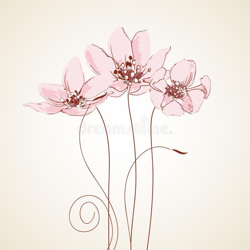 приветствие карточки милое флористическое иллюстрация штока