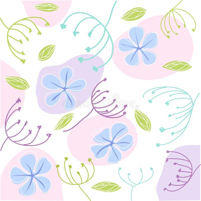 приветствие карточки флористическое иллюстрация штока