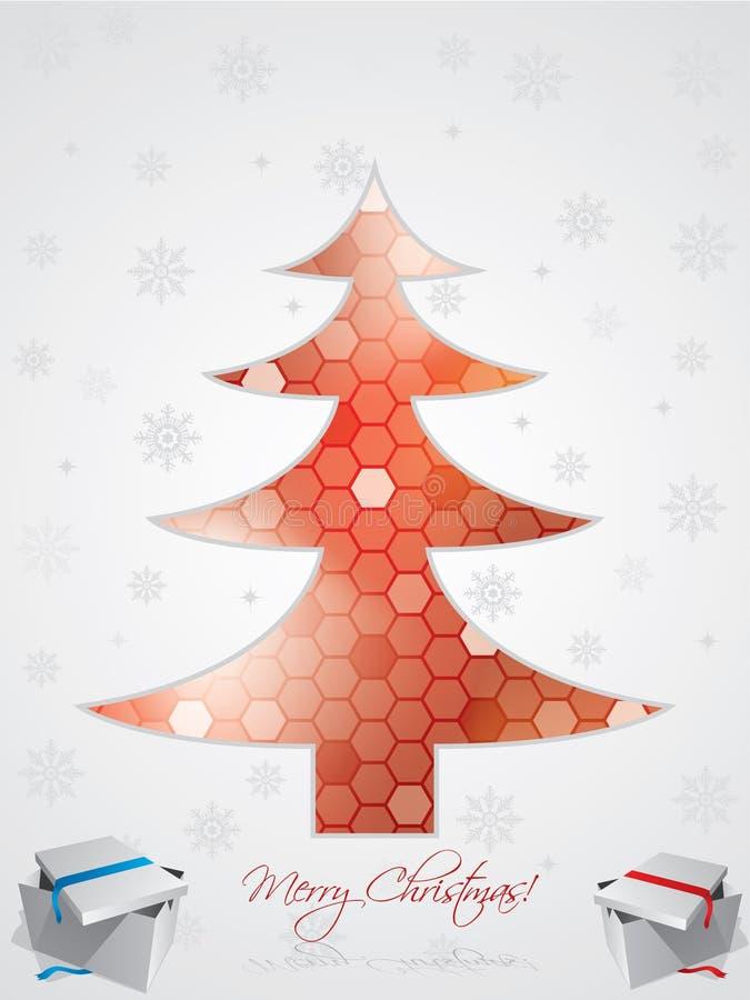 приветствие конструкции рождества карточки иллюстрация штока