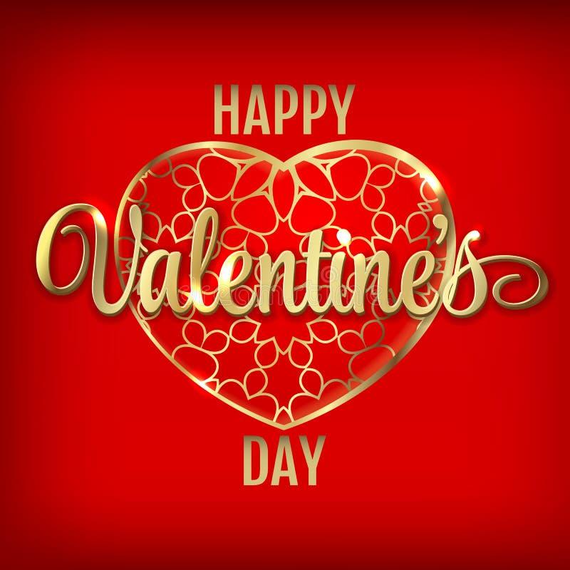 Приветствие дня валентинок с красными воздушными шарами сердца бесплатная иллюстрация