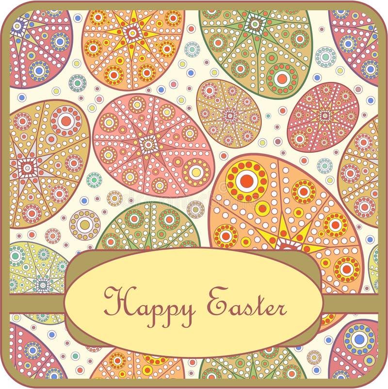 приветствие пасхального яйца карточки декоративное иллюстрация вектора