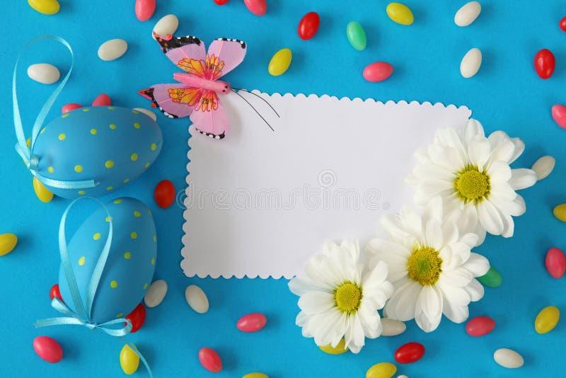 приветствие пасхи карточки стоковое изображение rf