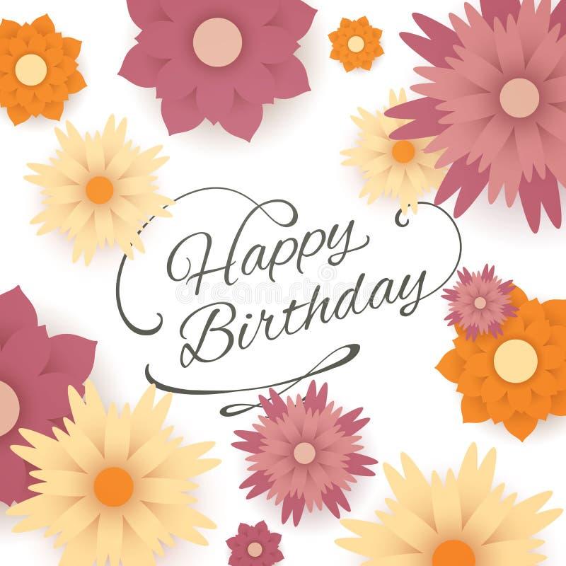 приветствие поздравительой открытки ко дню рождения счастливое стоковые изображения rf